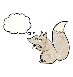 Cartoon squirrel with thought bubble vector