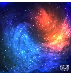 Colorful Cosmic Background with Light Shining vector image
