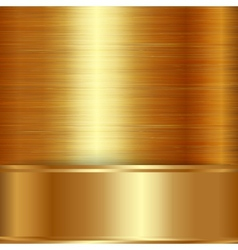 gold brushed metallic plaque background vector image
