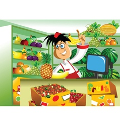 greengrocer vector image