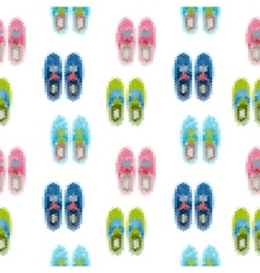 Gumshoes seamless pattern shoes background vector