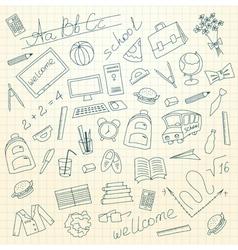 Hand drawn school background vector image