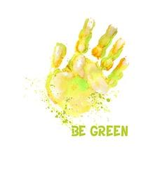 Handprint3 vector image