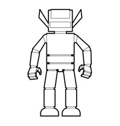 Humanoid robot icon outline vector
