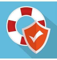 Icon insurance flood design vector
