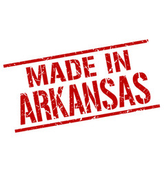 Made in arkansas stamp vector