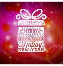 Merry Christmas with typographic design vector image vector image