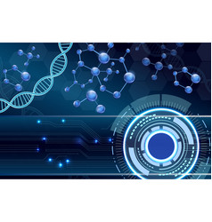 Molecular structure and dna background vector