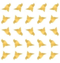 Origami bird seamless pattern vector image vector image