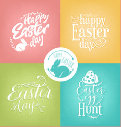 Pastel easter greeting card collection vector
