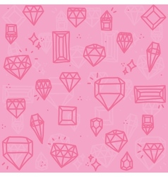 Pink diamonds vector