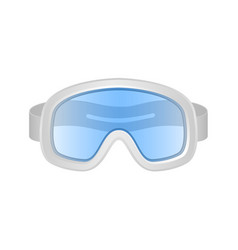 ski sport goggles in white and blue design vector image vector image