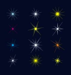 sparkles and starbursts vector image