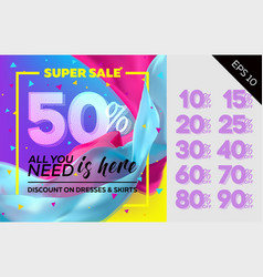 spring sale template vector image vector image