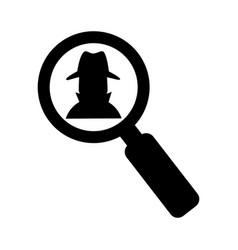 Spy avatar isolated icon vector
