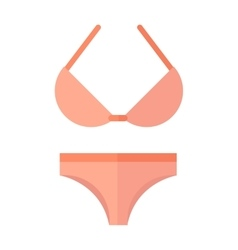 Swimsuit isolated on white vector image