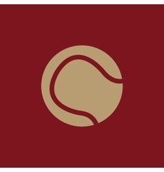 The tennis ball icon sport symbol flat vector