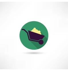 Trolley icon vector
