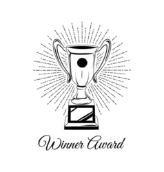 Trophy cup isolated on a white background vector image vector image