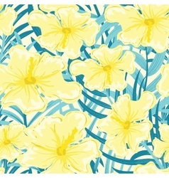 Tropical Hibiscus Flowers vector image