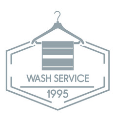 wash service logo simple gray style vector image