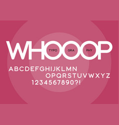 whooop rounded regular sans serif typeface design vector image