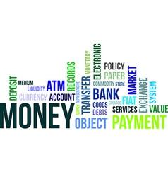 Word cloud money vector