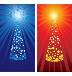 decorative cute christmas tree backgro vector image