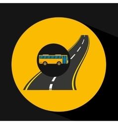 Highway bus transport public vector