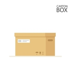 Close carton box to send mail or packages sealed vector
