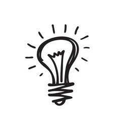 Light bulb - creative sketch draw vector