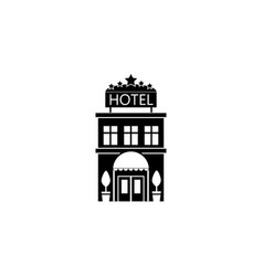 hotel solid icon travel tourism vector image