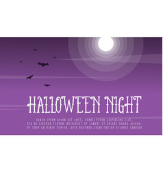 Halloween night background with bat vector