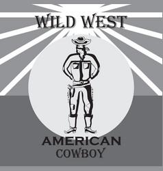 wild west vector image