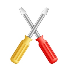 Screwdrivers vector image