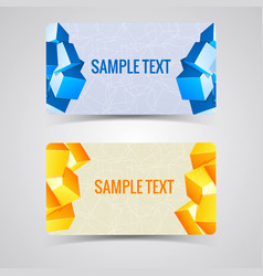 Two abstract banner set vector
