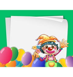 Clown banner vector