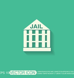 Jail prison icon symbol of justice police icon vector