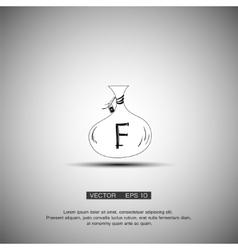 Bag with money Franc symbol vector image