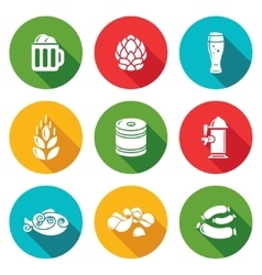 Beer and appetizer Icons Set vector image