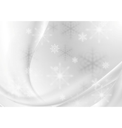 Abstract grey pearl wavy Christmas background vector image vector image