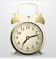 Alarm clock mechanical table clock with arrows vector
