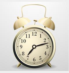 alarm clock mechanical table clock with arrows vector image vector image