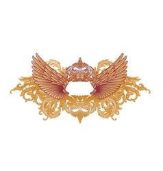 baroque emblem vector image vector image