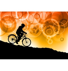 bike by sunset vector image vector image