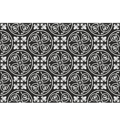 Black-and-white seamless gothic pattern vector image