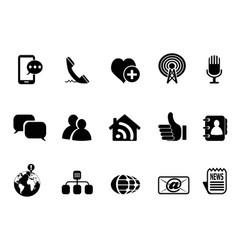 blog social media icons set vector image