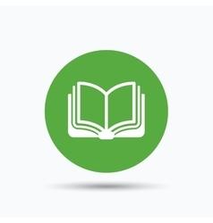 Book icon Study literature sign vector image vector image