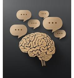 brain cardboard vector image vector image