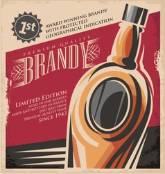 Brandy vintage poster design template vector